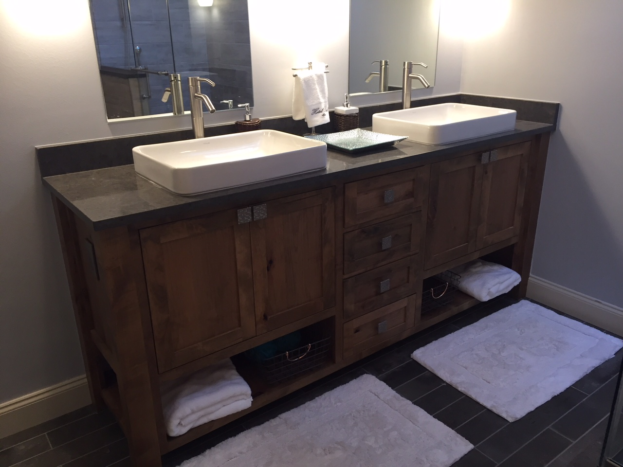 Bathroom Sink Design by Edmond Remodeler Weber Home Improvement.