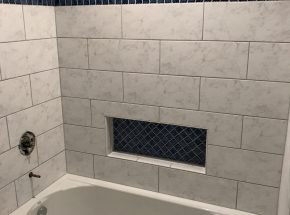 Bathroom Shower Remodel With Ledge
