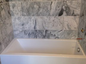 Bathroom Tub Remodel Completed by Edmond Contractor Weber Home Improvement.