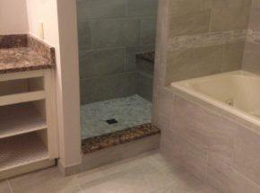 Edmond Bathroom Remodel Job Completed by Weber Home Improvement!