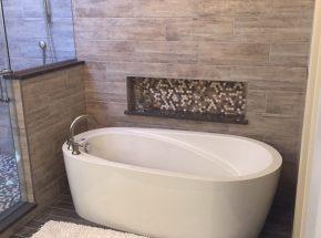 Unique Tub Design Bathroom Remodel Edmond.