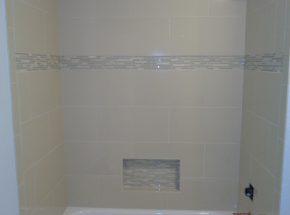 Shower Remodel Completed by Edmond Bathroom Remodel Expert Weber Home Improvement.